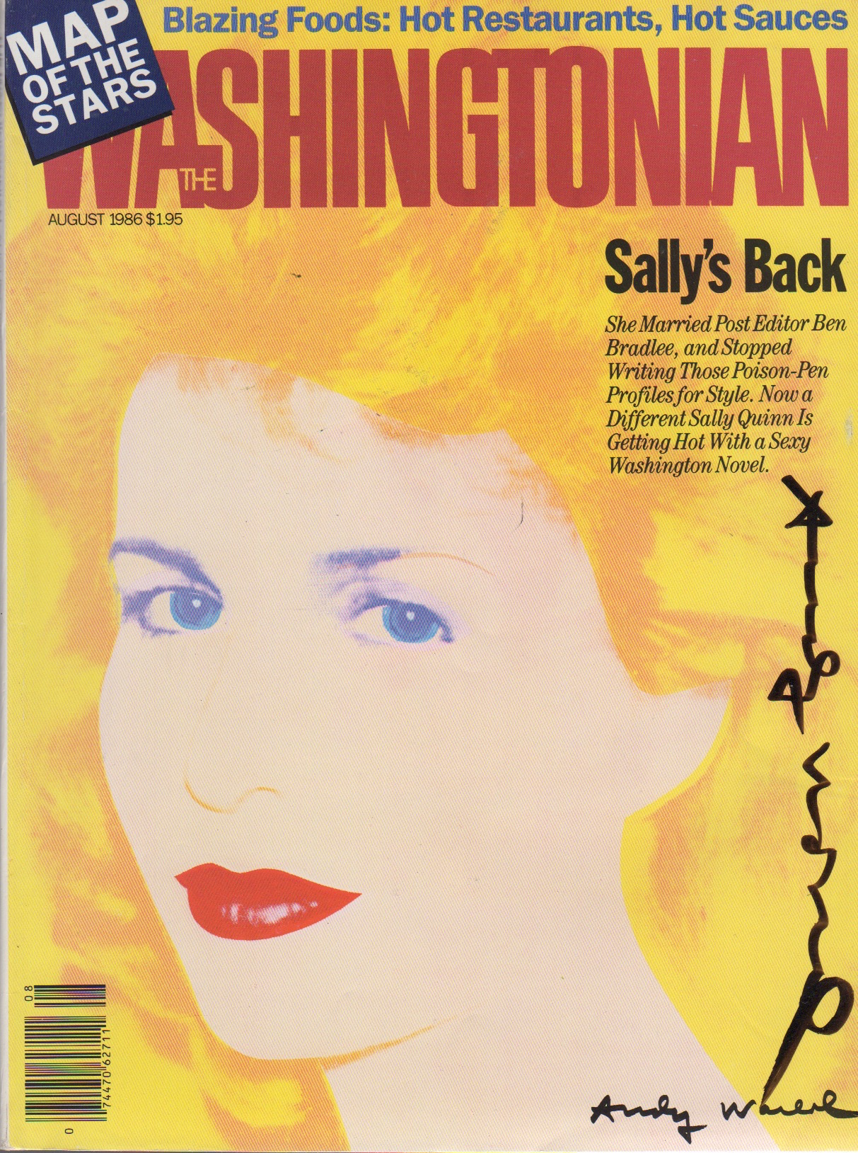 THE WASHINGTONIAN (AUGUST 1986) [SIGNED]. Andy Warhol.