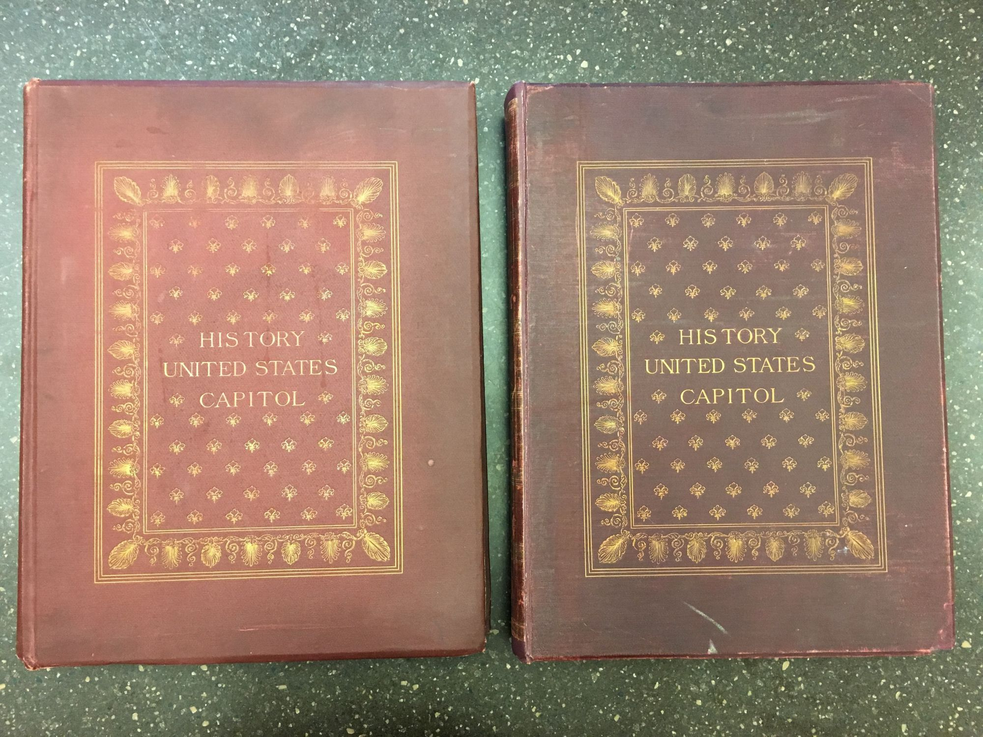 HISTORY OF THE UNITED STATES CAPITOL [TWO VOLUMES]. Glenn Brown.