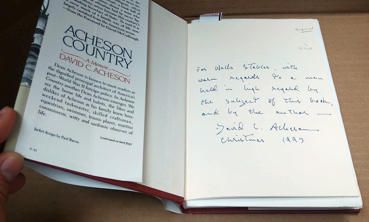 Acheson Country [SIGNED AND INSCRIBED BY AUTHOR]. David C. Acheson.