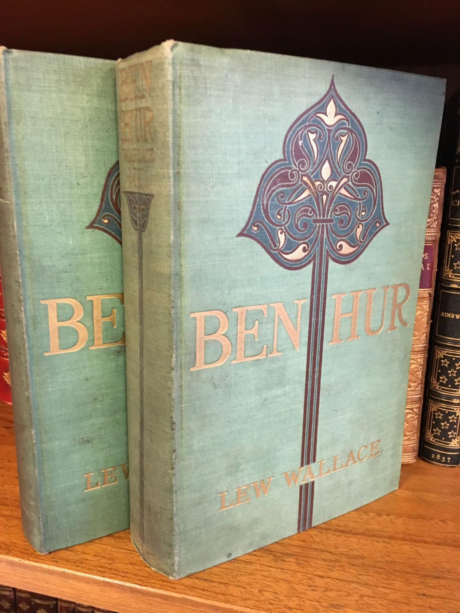 BEN-HUR: A TALE OF THE CHRIST [TWO VOLUMES] [SIGNED]. Lew Wallace.