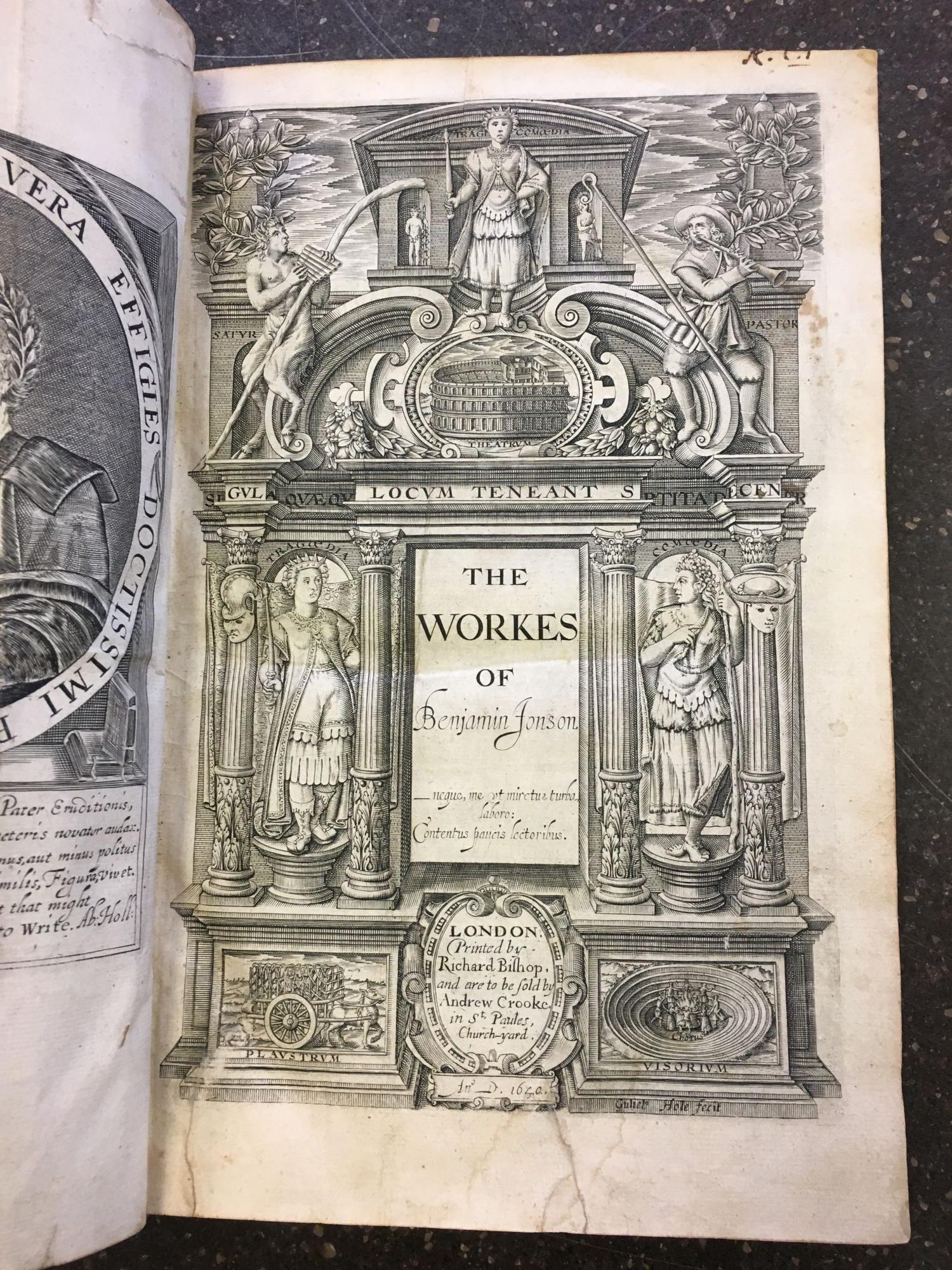 THE WORKES OF BENJAMIN JONSON [TWO VOLUMES]. Ben Jonson.