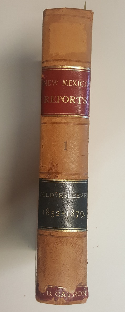 Reports of Cases Determined in the Supreme Court of the Territory of New Mexico [Vol.1]. Charles H. Gildersleeves, Reporter.