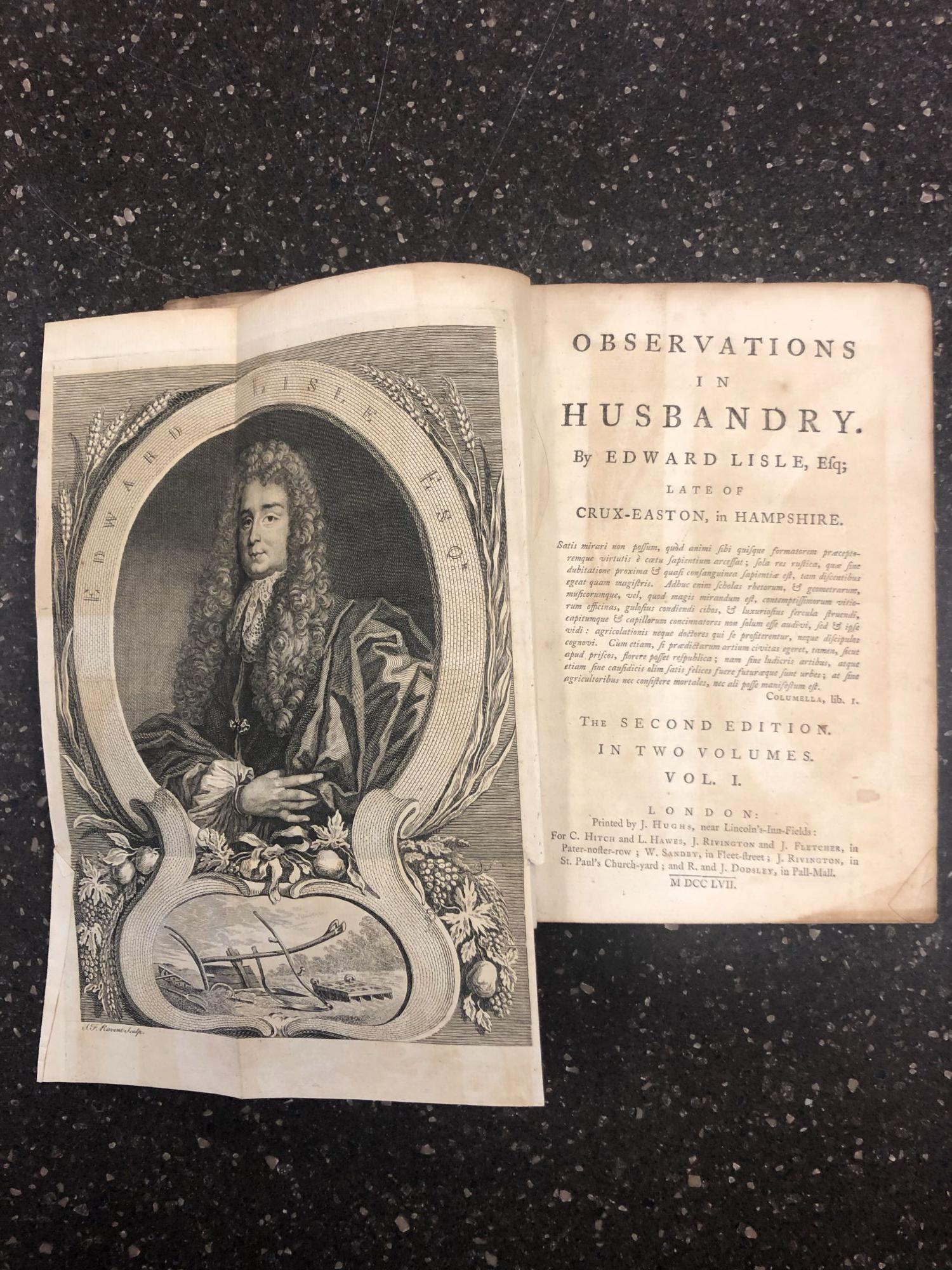 OBSERVATIONS IN HUSBANDRY [TWO VOLUMES]. Edward Lisle.