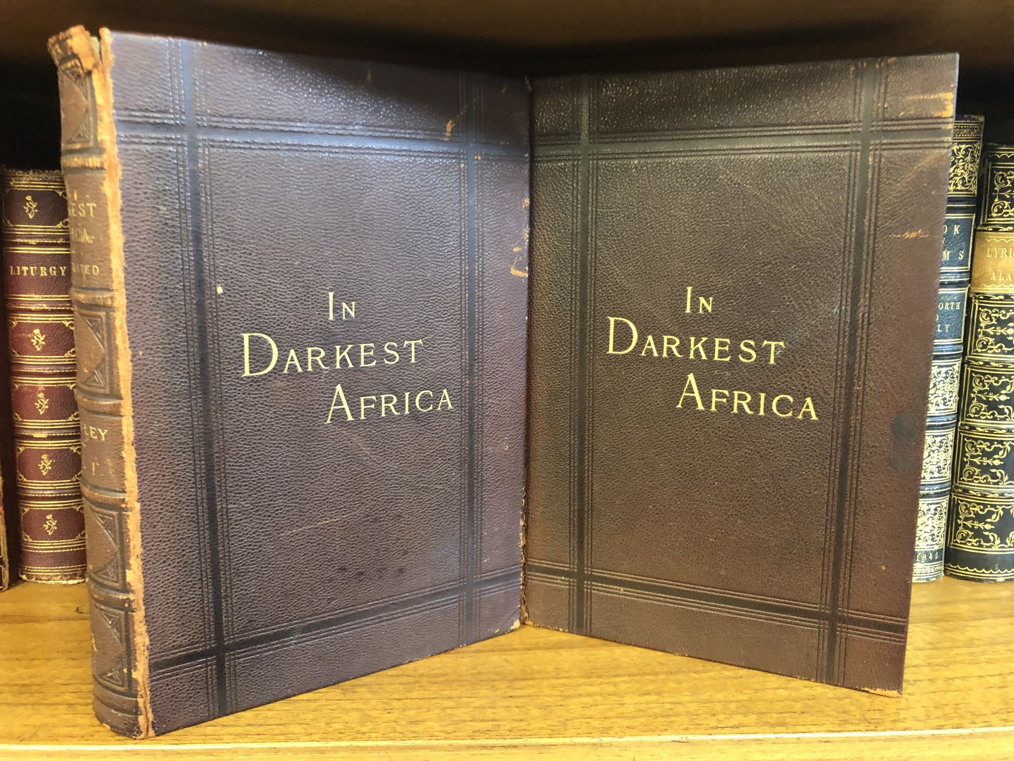 IN DARKEST AFRICA: OR THE QUEST, RESCUE AND RETREAT OF EMIN GOVERNOR OF EQUATORIA [TWO VOLUMES]. Henry M. Stanley.