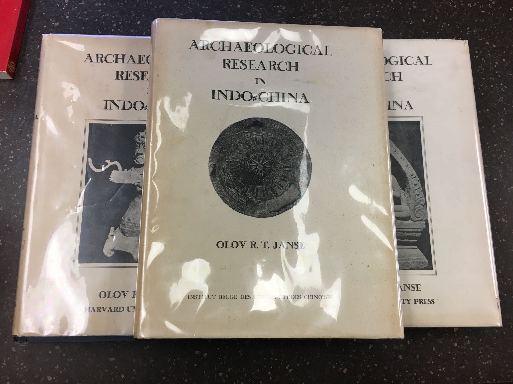 ARCHAEOLOGICAL RESEARCH IN INDO-CHINA [THREE VOLUMES]. Olov Robert T. Janse.