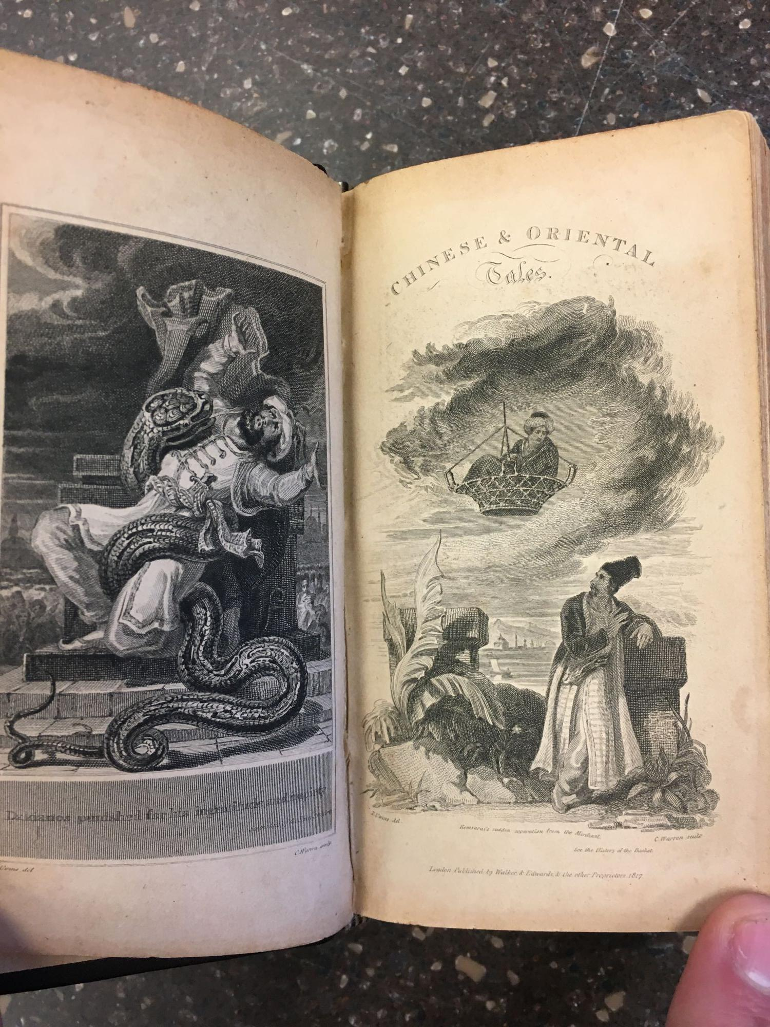 CHINESE TALES; OR THE MARVELLOUS ADVENTURES OF THE MANDARIN FUM-HOAM. ORIENTAL TALES [TWO PARTS IN ONE]. Thomas Simon Gueulette, Comte de Caylus.