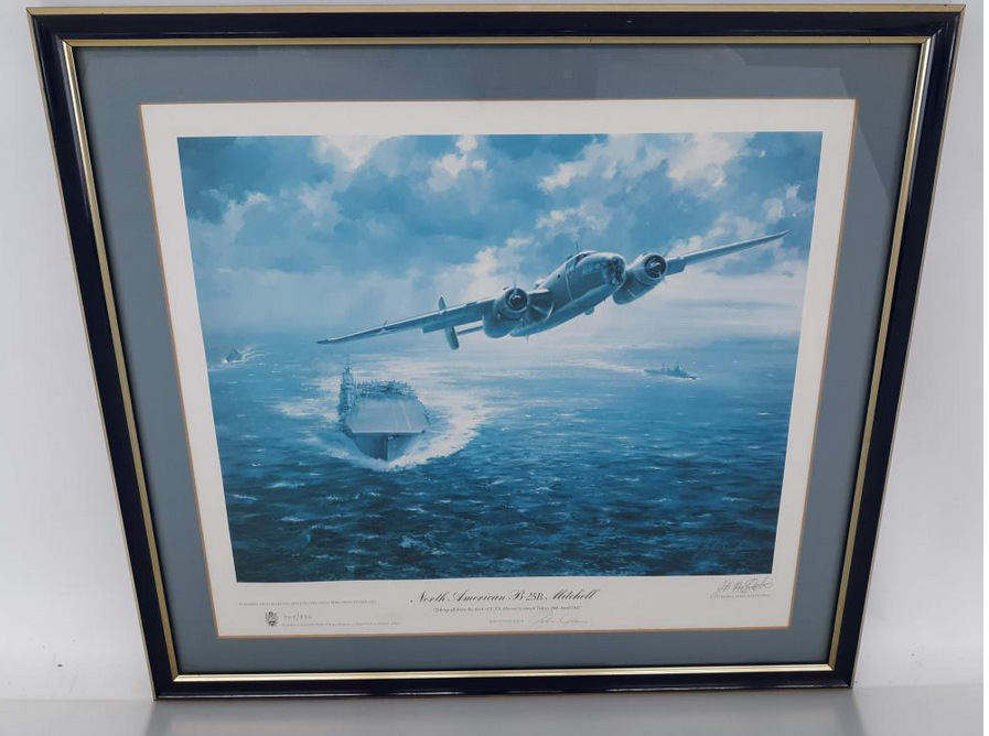 North American B-25B Mitchell. James Young, signed.