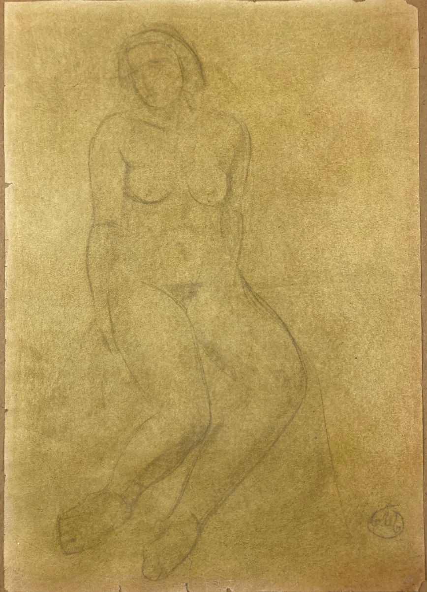 Drawing of Female Nude. Aristide Maillol.