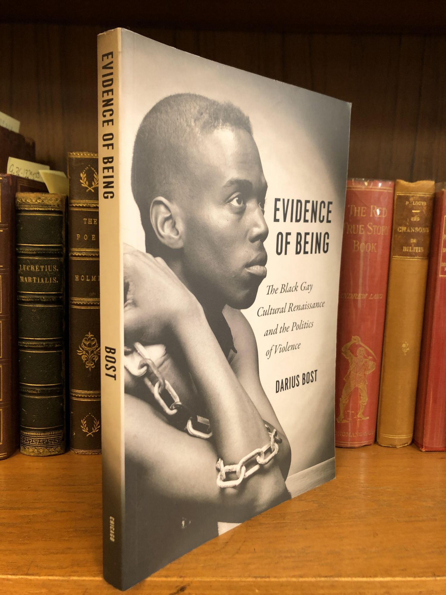 EVIDENCE OF BEING: THE BLACK GAY CULTURAL RENAISSANCE AND THE POLITICS OF VIOLENCE. Darius Bost.