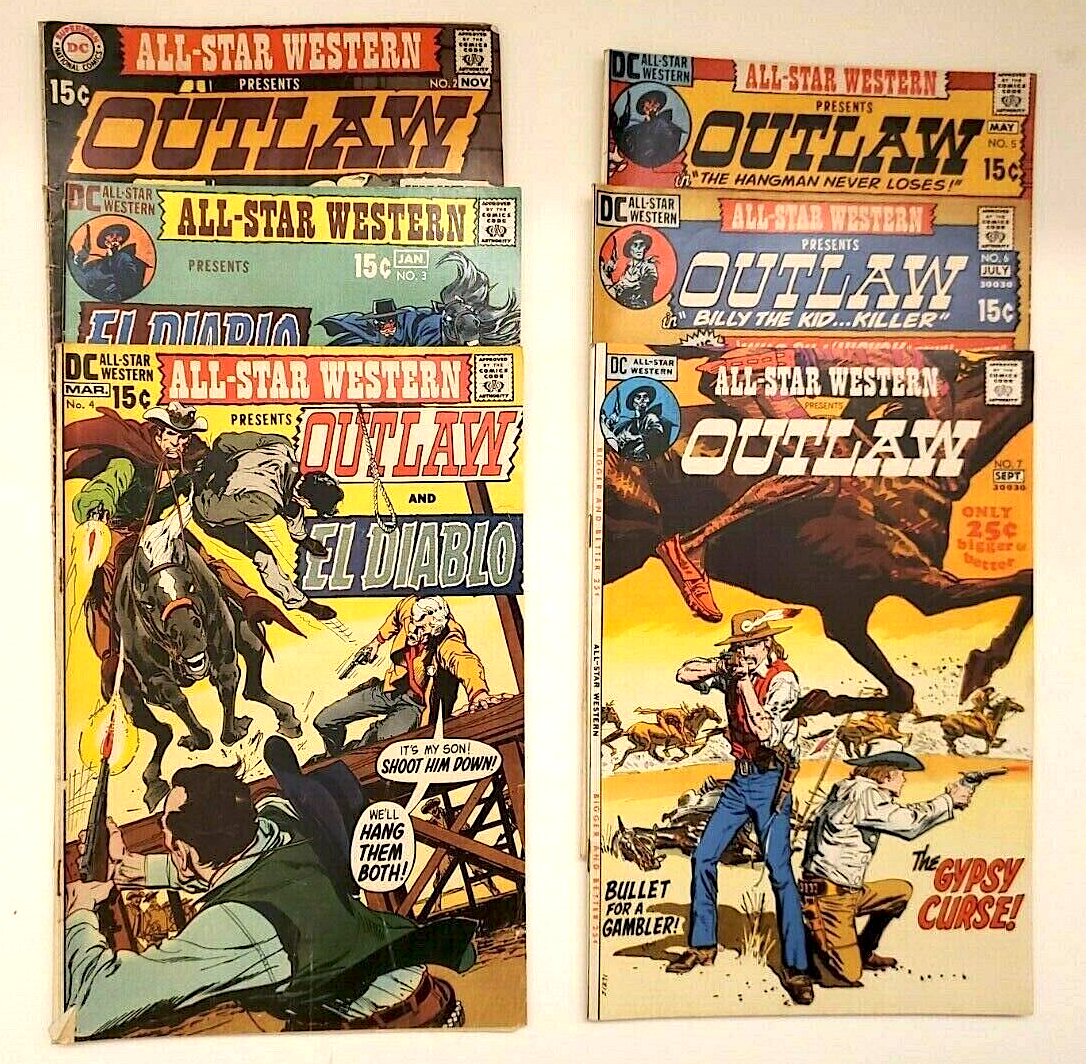 DC COMICS ALL-STAR WESTERN OUTLAW NO. 2, 3, 4, 5, 6 & 7