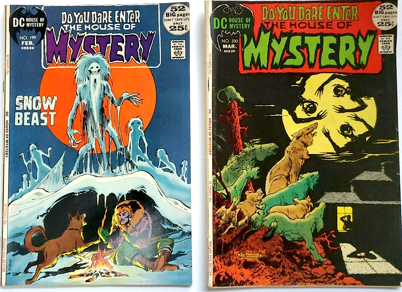 DC COMICS BRONZE AGE THE HOUSE OF MYSTERY (1972) No. 199 &200