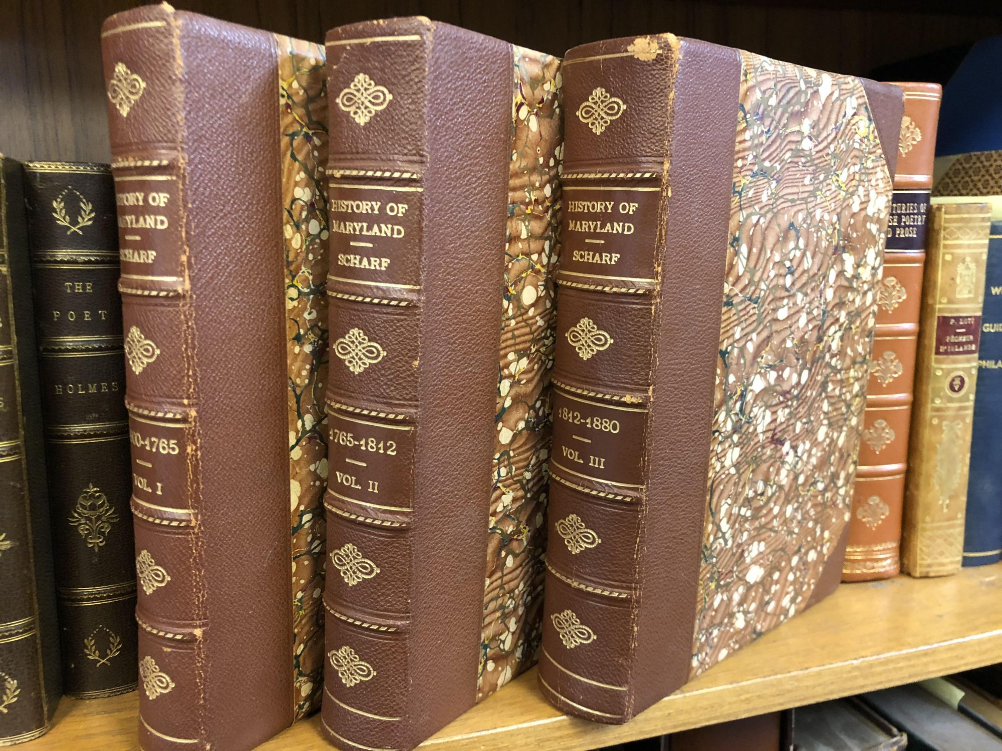 HISTORY OF MARYLAND FROM THE EARLIEST PERIOD TO THE PRESENT DAY [THREE VOLUMES]. J. Thomas Scharf.