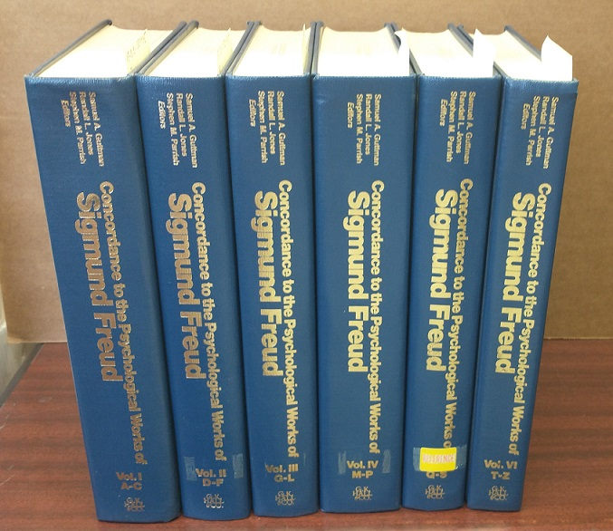 THE CONCORDANCE TO THE STANDARD EDITION OF THE COMPLETE PSYCHOLOGICAL WORKS OF SIGMUND FREUD [6 VOLUMES]. Sigmund Freud, Samuel A. Guttman, Jones Randall L., Stephen M. Parrish.
