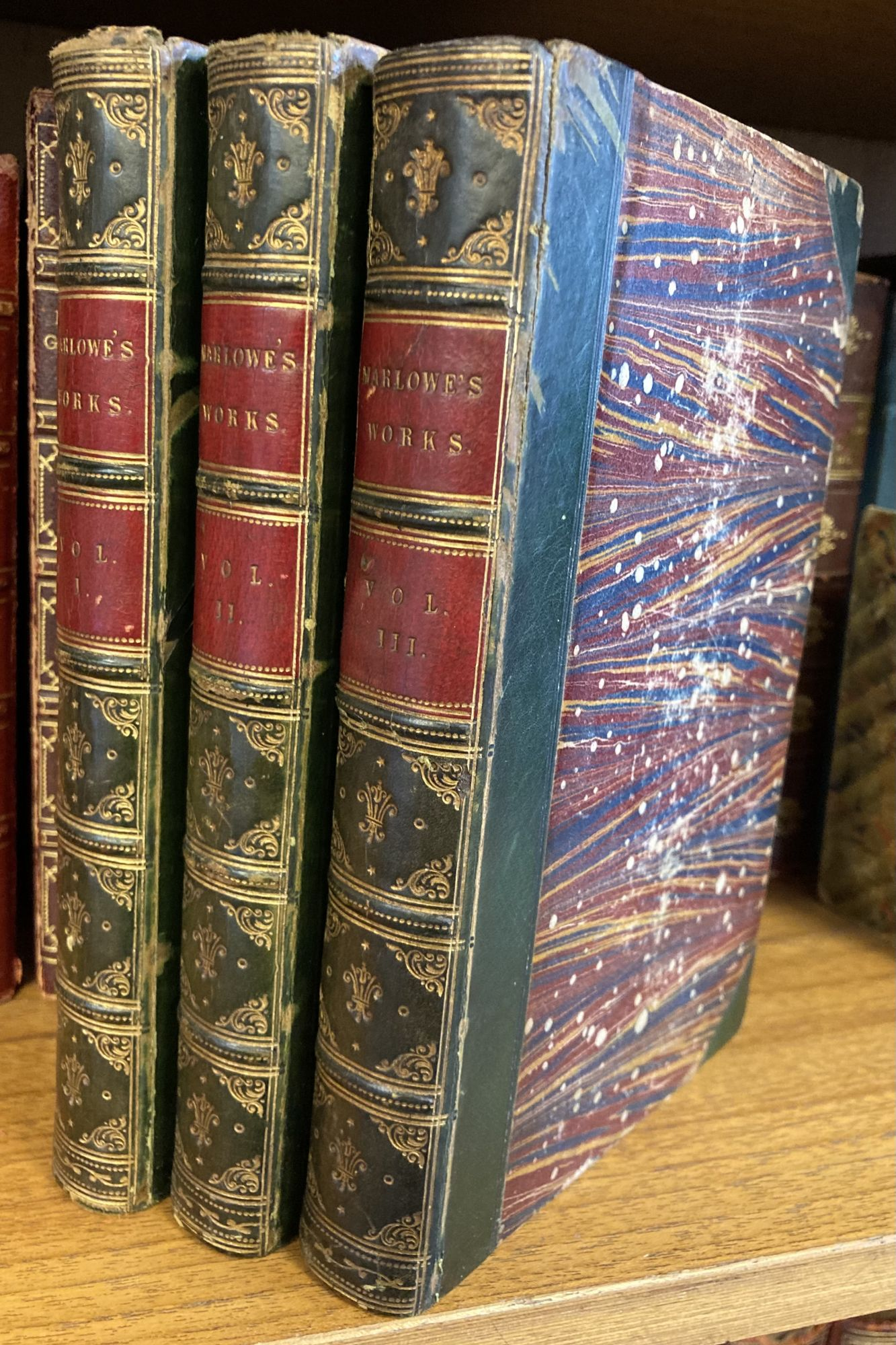 THE WORKS OF CHRISTOPHER MARLOWE [THREE VOLUMES]. Christopher Marlowe.