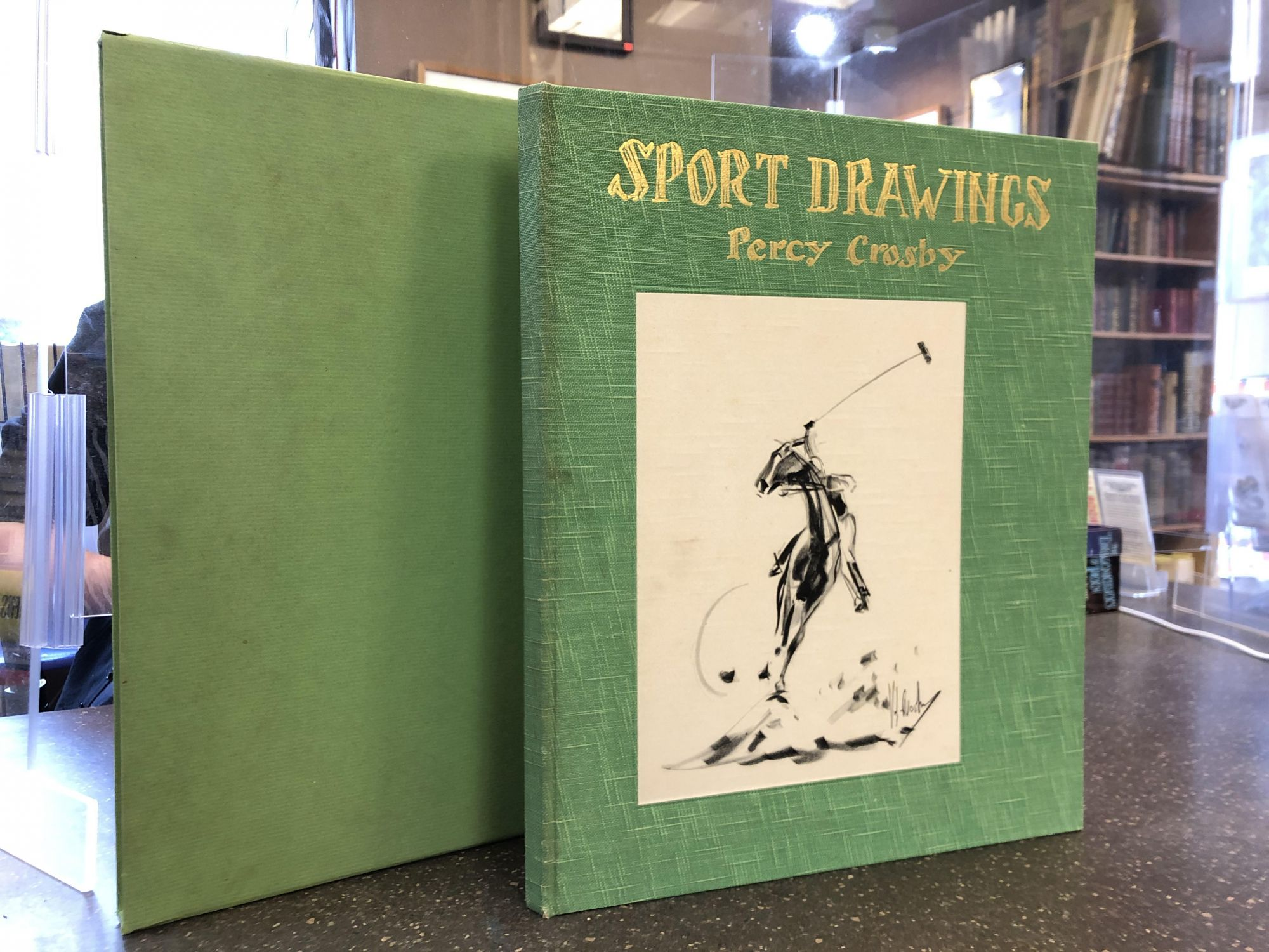 SPORT DRAWINGS. Percy Crosby, author and.