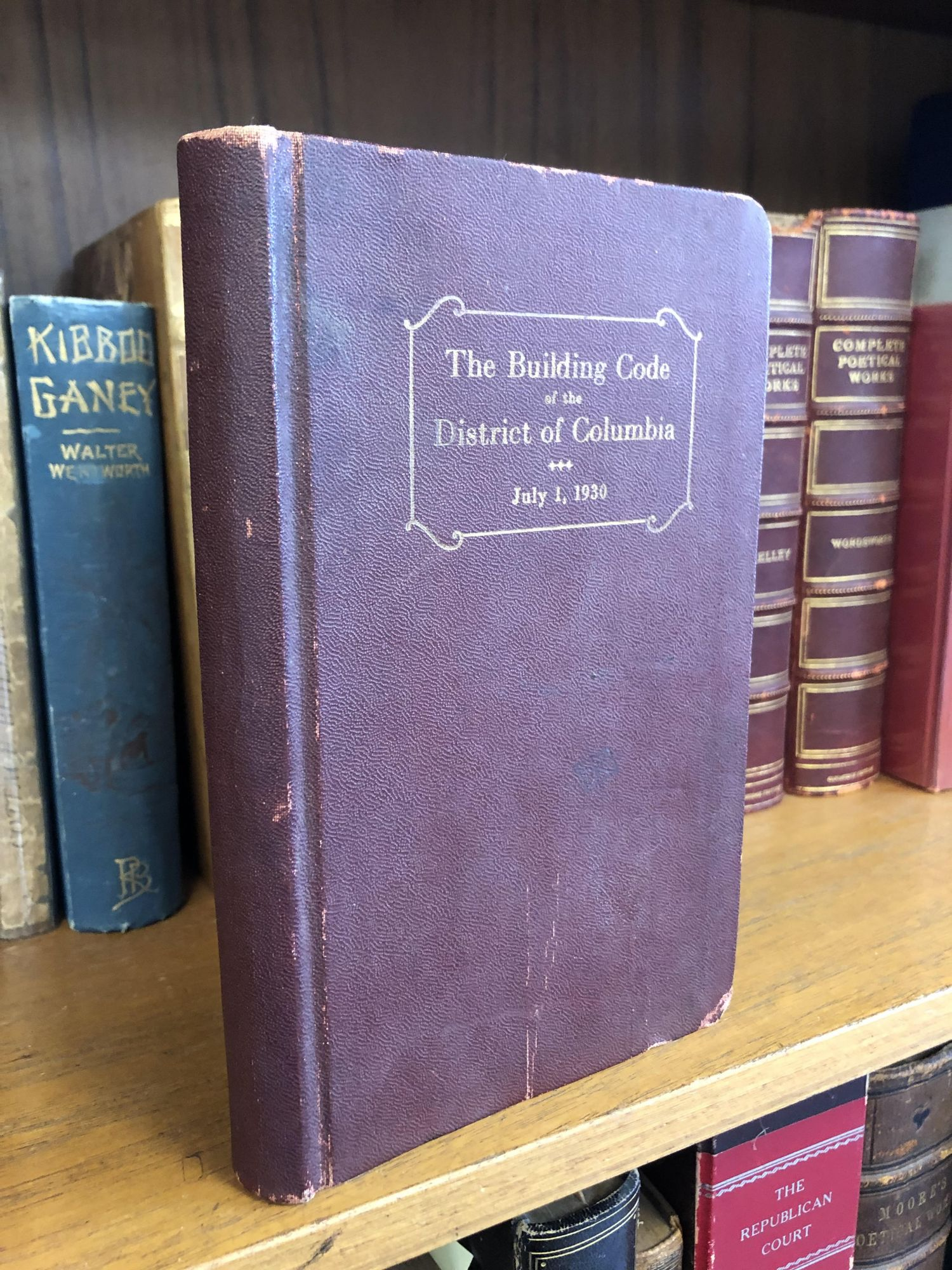 THE BUILDING CODE OF THE DISTRICT OF COLUMBIA