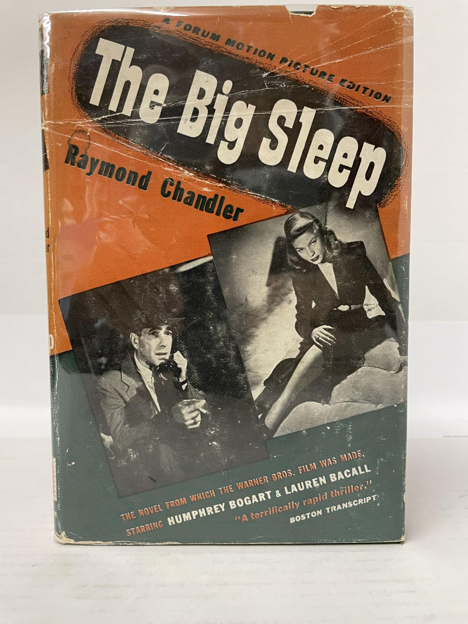 THE BIG SLEEP (A FORUM MOTION PICTURE EDITION). Raymond Chandler, 1888 - 1959.