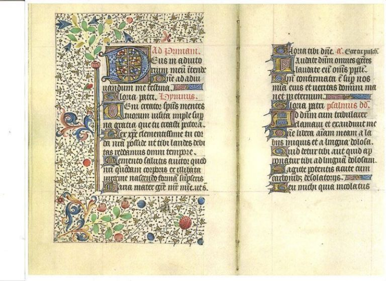 15th-Century Catholic Illuminated Book of Hours Manuscript