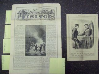 """Rare collection of 130+ 19th century American Children's Christian magazine issues - """"The Sunbeam,"""" """"Sabbath School Visitor,"""" """"Picture Lesson Paper"""" and """"Illustrated Fly-Leaves"""""""