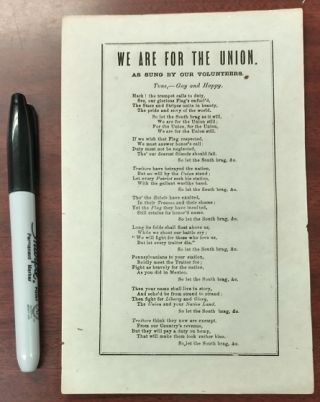 WE ARE FOR THE UNION. n/a
