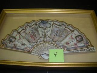 FRAMED ANTIQUE RITZ-CARLTON FAN