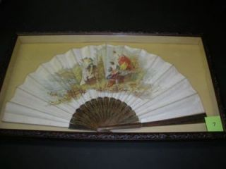 FRAMED LATE 19TH-CENTURY PAINTED FAN