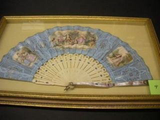 FRAMED EARLY 19TH-CENTURY ENGLISH FAN