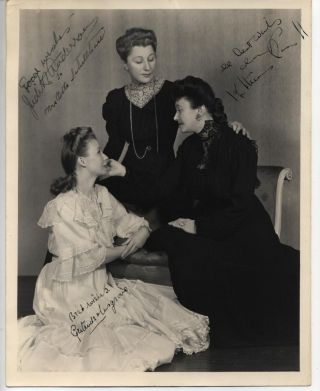 "SIGNED 8x10 PHOTO OF KATHARINE CORNELL, JUDITH ANDERSON IN ""THREE SISTERS"""
