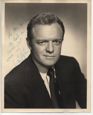 SIGNED 8x10 PHOTO OF VAN HEFLIN ca 1959