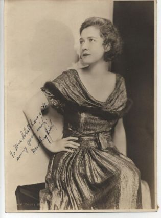DOROTHY GISH SIGNED 8x10 PHOTO ca 1930s