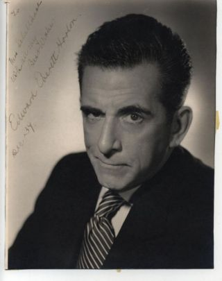 EDWARD EVERETT HORTON SIGNED 8x10 PHOTO DATED 1939