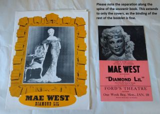 "MAE WEST as ""DIAMOND LIL"" 1949 SOUVENIR BOOK AND HANDBILL"