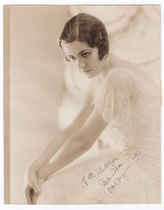 SIGNED AND INSCRIBED PHOTO OF ETHEL BARRYMORE. Ethel Barrymore.