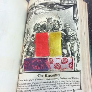 A COLLECTION OF PLATES AND FABRIC SAMPLES FROM ACKERMANN'S REPOSITORY OF ARTS 1809-1811