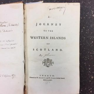JOURNEY TO THE WESTERN ISLANDS OF SCOTLAND. Samuel Johnson