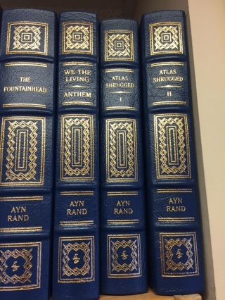 ATLAS SHRUGGED, THE FOUNTAINHEAD, WE THE LIVING AND ANTHEM [FOUR VOLUMES]. Ayn Rand