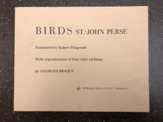 BIRDS [SIGNED]. St.-John Perse, Robert Fitzgerald, Georges Braque