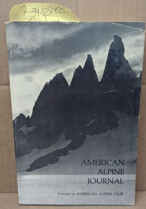 The American Alpine Journal Volume 19, Number 1, Issue 48. H. Adams Carter