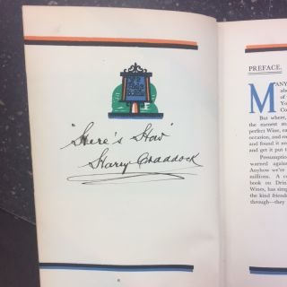 THE SAVOY COCKTAIL BOOK [SIGNED]