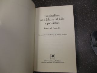 CAPITALISM AND MATERIAL LIFE 1400-1800