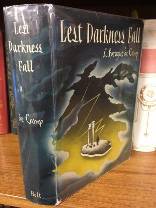 LEST DARKNESS FALL. L. Sprague de Camp, S. M. Adler, H. Lubalin, jacket
