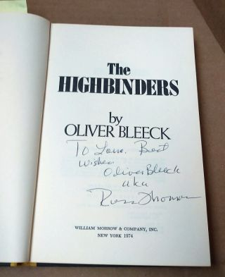 The Highbinders [signed]