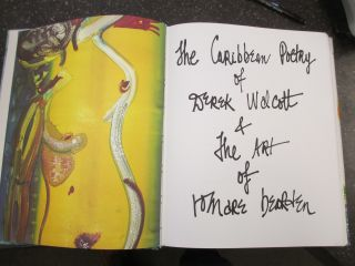 POEMS OF THE CARIBBEAN [SIGNED]. Derek Walcott, Romare Bearden, selector and