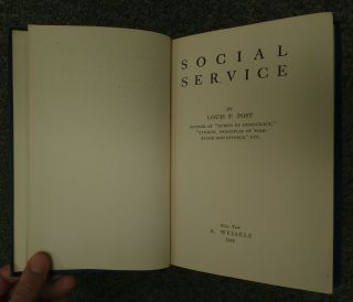 SOCIAL SERVICE [INSCRIBED]