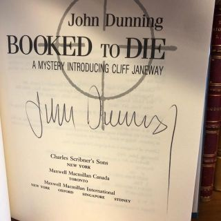 Booked to Die: A Mystery Introducing Cliff Janeway [signed]