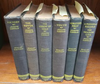 The Malay Edition of the Works of Joseph Conrad (7 volumes in 6 books
