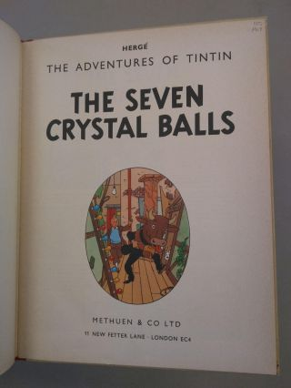 THE SEVEN CRYSTAL BALLS [ADVENTURES OF TINTIN #13]