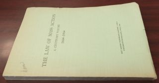 The Law of Mass Action: a Centenary Volume, 1864-1964