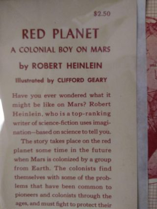 RED PLANET: A COLONIAL BOY ON MARS [HEINLEIN JUVENILE #3]