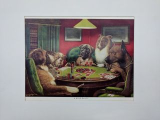 Dogs Playing Poker (modern reprints